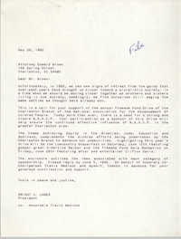 Letter from Dwight C. James to Edward Brown, May 26, 1992