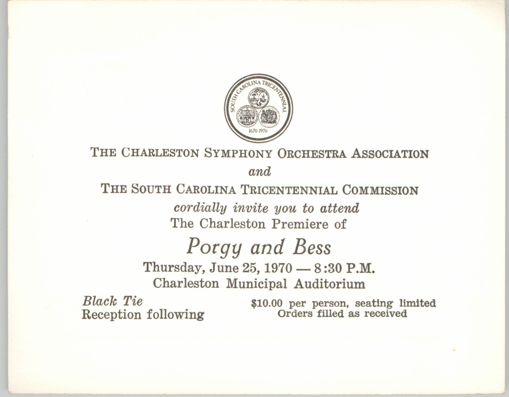 Charleston Symphony Orchestra Invitation to