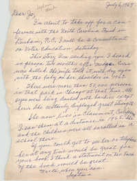 Letter from Septima P. Clark to Josephine Rider, July 6, 1967
