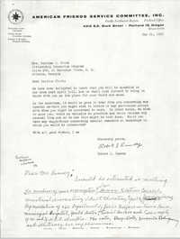 Letter from Robert J. Rumsey to Septima P. Clark, May 21, 1963