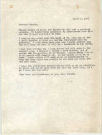 Letter from Josephine Rider to Septima P. Clark, April 6, 1968