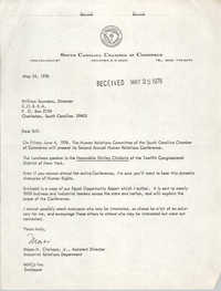Letter from Moses H. Clarkson, Jr. to William Saunders, May 25, 1976