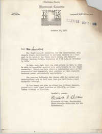 Letter from Elizabeth Alston to William Saunders, October 10, 1974