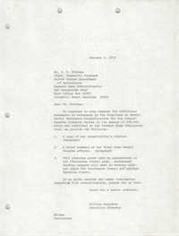 Letter from William Saunders to R. E. Pittman, January 9, 1979