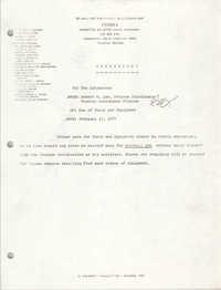 COBRA Memorandum, February 15, 1979