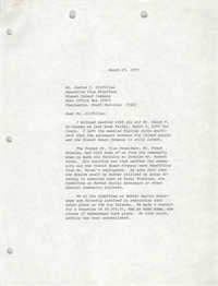 Letter from William Saunders to Justus C. Gilfillan, March 15, 1979
