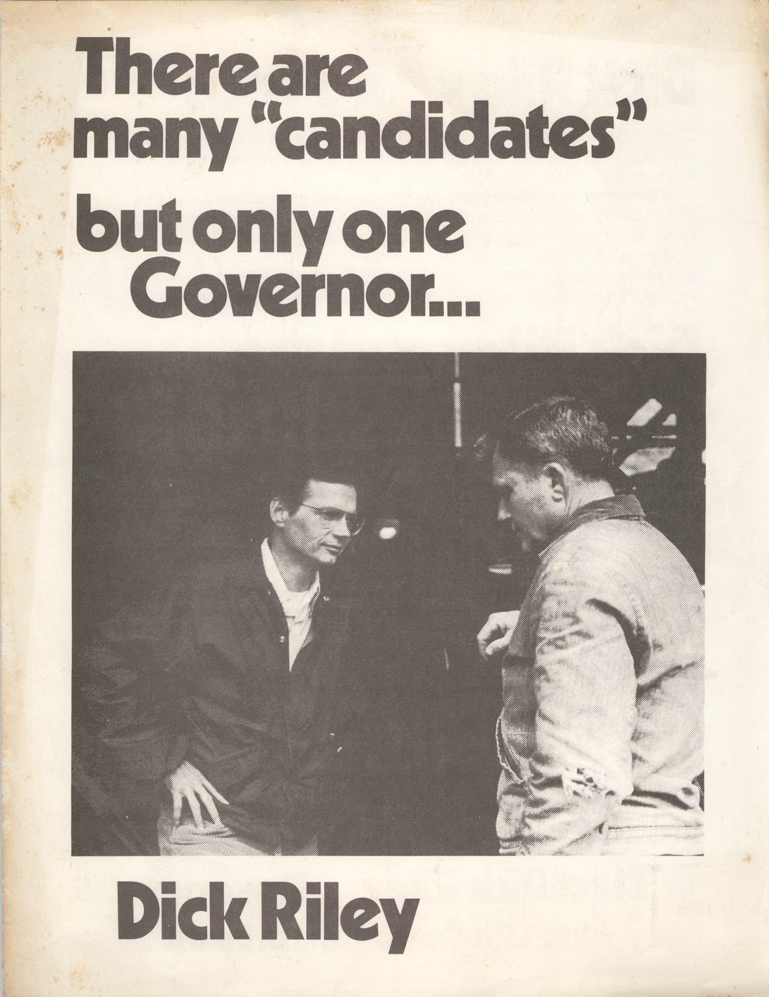Dick Riley, Campaign Materials