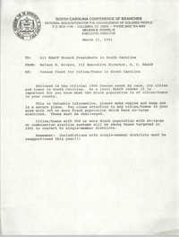South Carolina Branch of the NAACP Memorandum, March 21, 1991