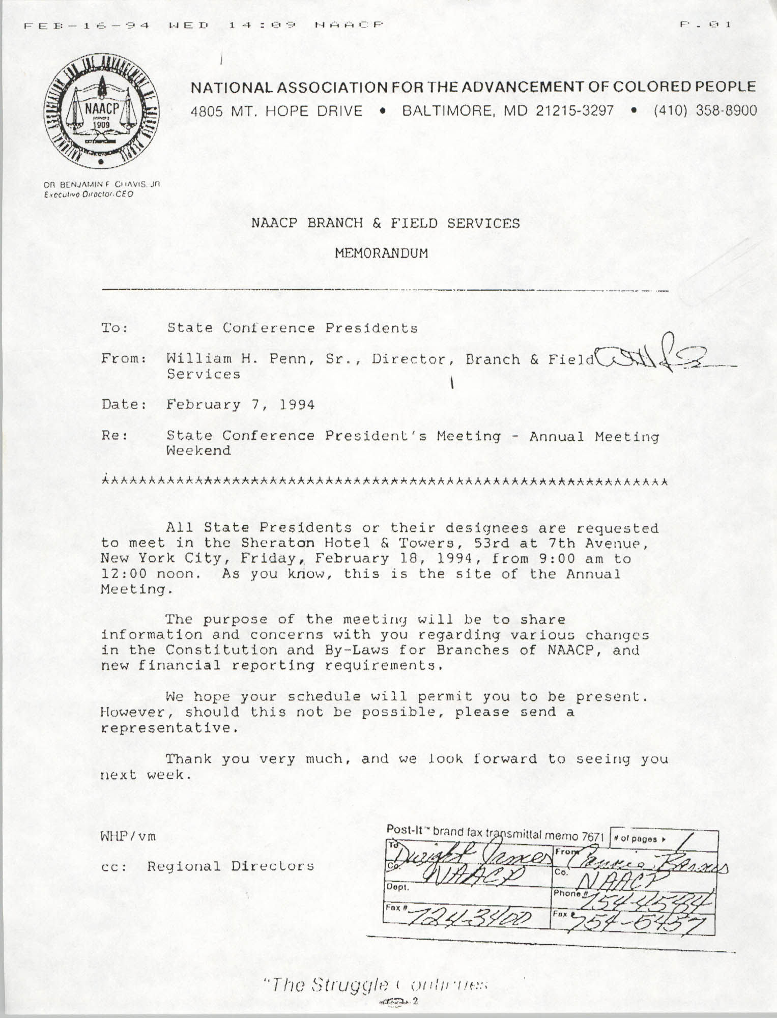 NAACP Memorandum, February 7, 1994