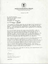 Letter from David W. Wild to William Saunders, Janary 22, 1993