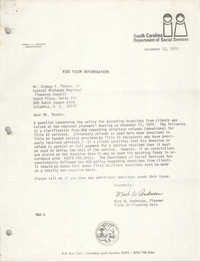 Letter from Mark W. Andresen to Sidney F. Thomas, Jr., December 13, 1979