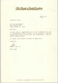 Letter from Hugh C. Lane, Jr. to William Saunders, January 25, 1993