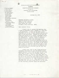 Letter from William Saunders to Richard W. Riley, October 23, 1979