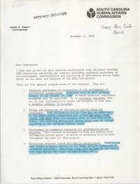 Letter from James E. Clyburn, December 17, 1979