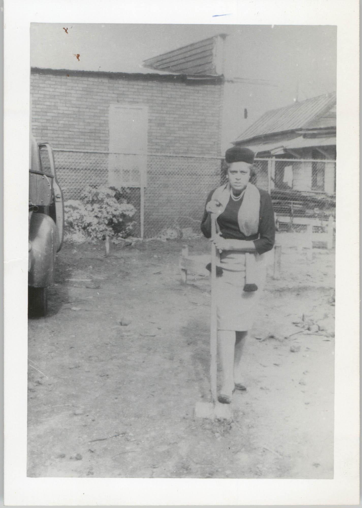 Photograph of Woman Shoveling