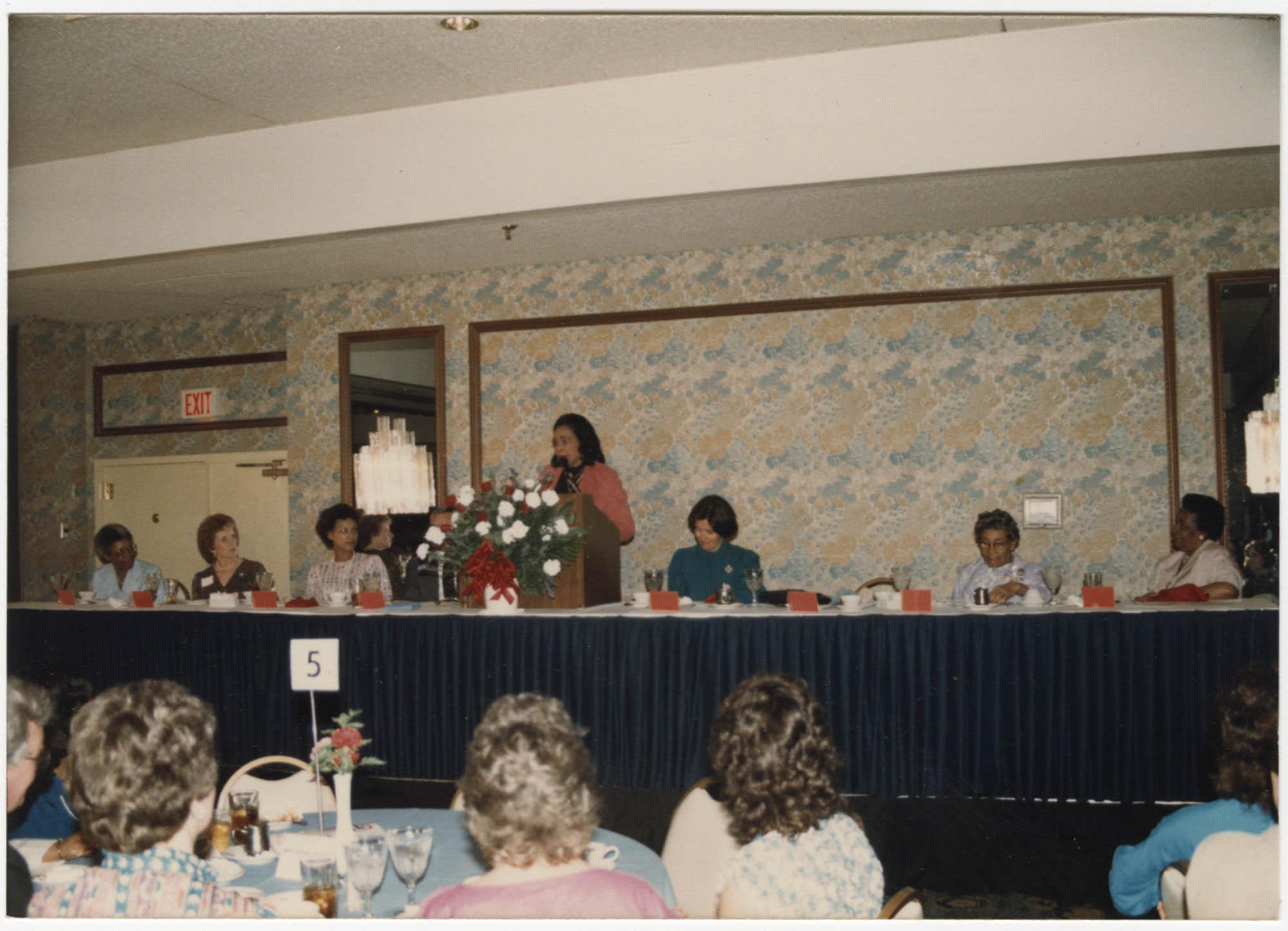 Photograph of Coretta Scott King Speaking