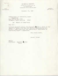 Letter from Russell Brown to  the Commissioner of Continuing Lawyer Competence, December 28, 1984