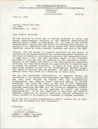 Letter from Dwight C. James to Ernest Hollings, June 15, 1990