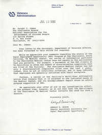 Letter from Gerald K. Hinch to Dwight C. James, July 13, 1990