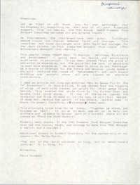 Speech, Chairperson's Message, David Coleman