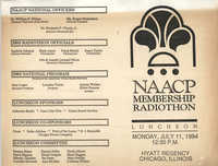 NAACP Membership Radiothon Luncheon, Flyer, July 11, 1994