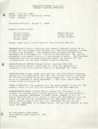 Minutes, Banquet Planning Committee, National Association for the Advancement of Colored People, July 26, 1989