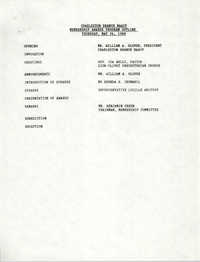 Membership Program Outline, National Association for the Advancement of Colored People, May 26, 1988