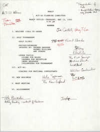 Agenda, ACT-SO Planning Committee, NAACP, May 13, 1993