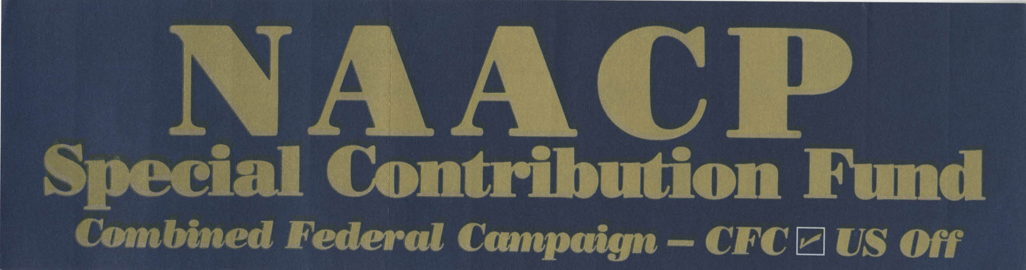 NAACP Special Contribution Fund, Combined Federal Campaign, CFC, US Off