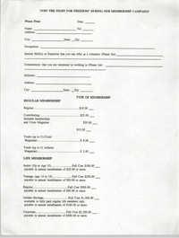 Membership Campaign Sign-up Sheet, NAACP