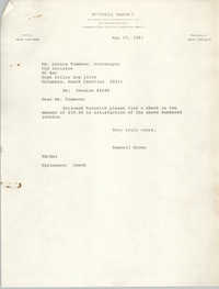 Letter from Russell Brown to Monica Timmons, May 17, 1983