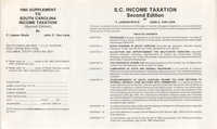 1985 Supplement to the S.C. Bar CLE Publication , South Carolina Income Taxation