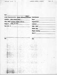 Form, Clarence Simmons & Company, Sasha Dalton, April 22, 1992