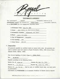 Performance Agreement, NAACP, Royal Production, Clifton Davis