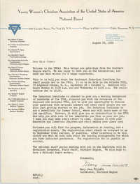 Letter from Mary Jane Willett to Theresa Jones, August 28, 1952