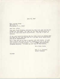 Letter from Christine O. Jackson to Lillian White, June 27, 1967