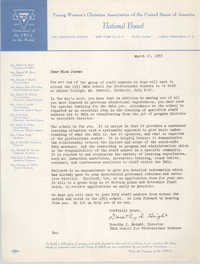 Letter from Dorothy I. Height to Theresa Jones, March 10, 1953