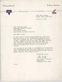 Letter from Lois Gratz to Theresa Jones, April 15, 1953