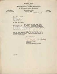 Letter from Cordella A. Winn to Ella L. Smyrl, January 5, 1932