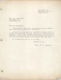 Letter from F. C. Brown to M. M. Wainwright, March 19, 1957