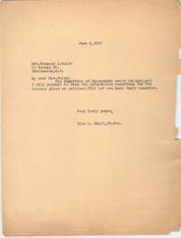 Letter from Ella L. Smyrl to Frances J. Bulow, June 4, 1931