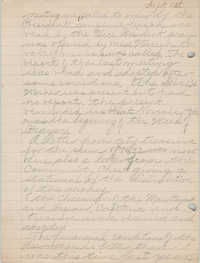 Minutes of the Committee of Management, Coming Street Y.W.C.A., September 1, 1925