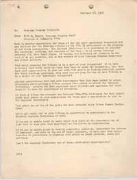 National Board of the Y.W.C.A. Memorandum, February 16, 1948