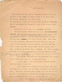 Minutes to the Board of Management, Coming Street Y.W.C.A., March 20, 1931