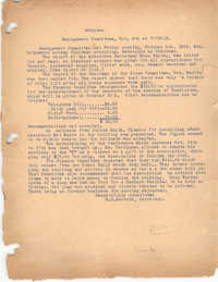 Minutes to the Management Committee, Coming Street Y.W.C.A., October 8, 1920