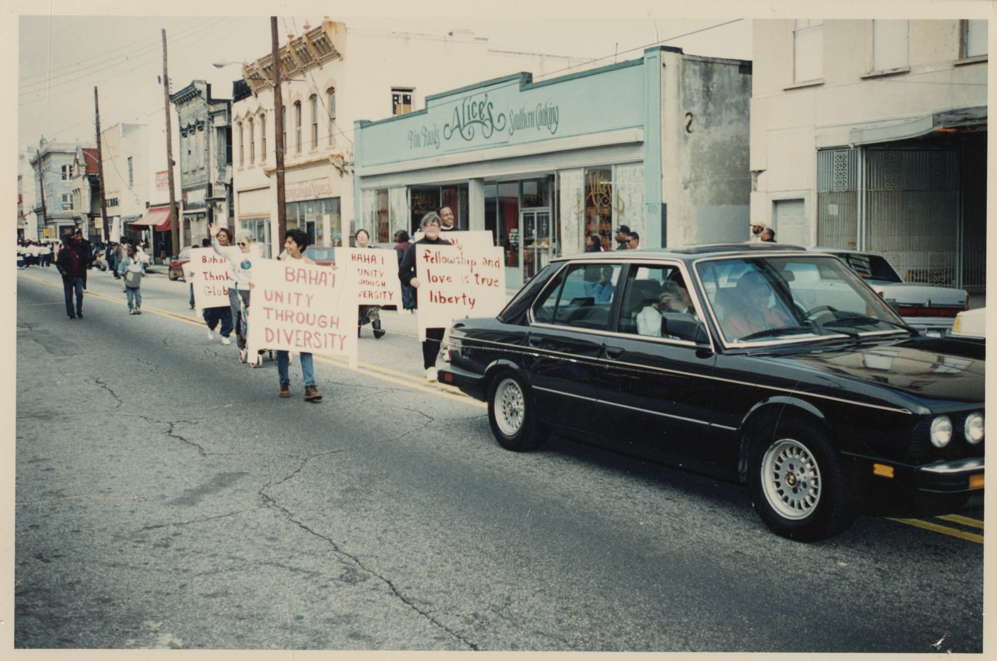 Photograph of People in a Parade