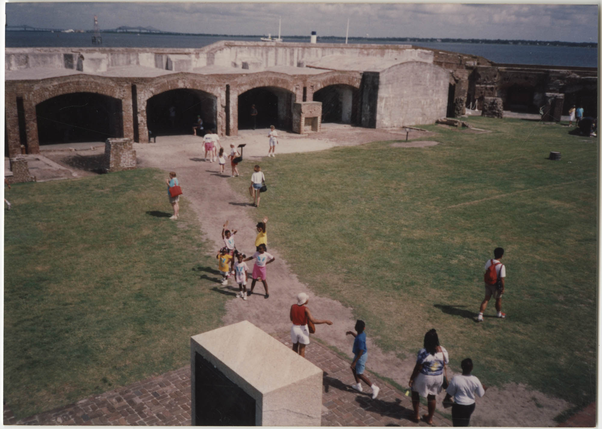 Photograph of Children at Fort Sumter