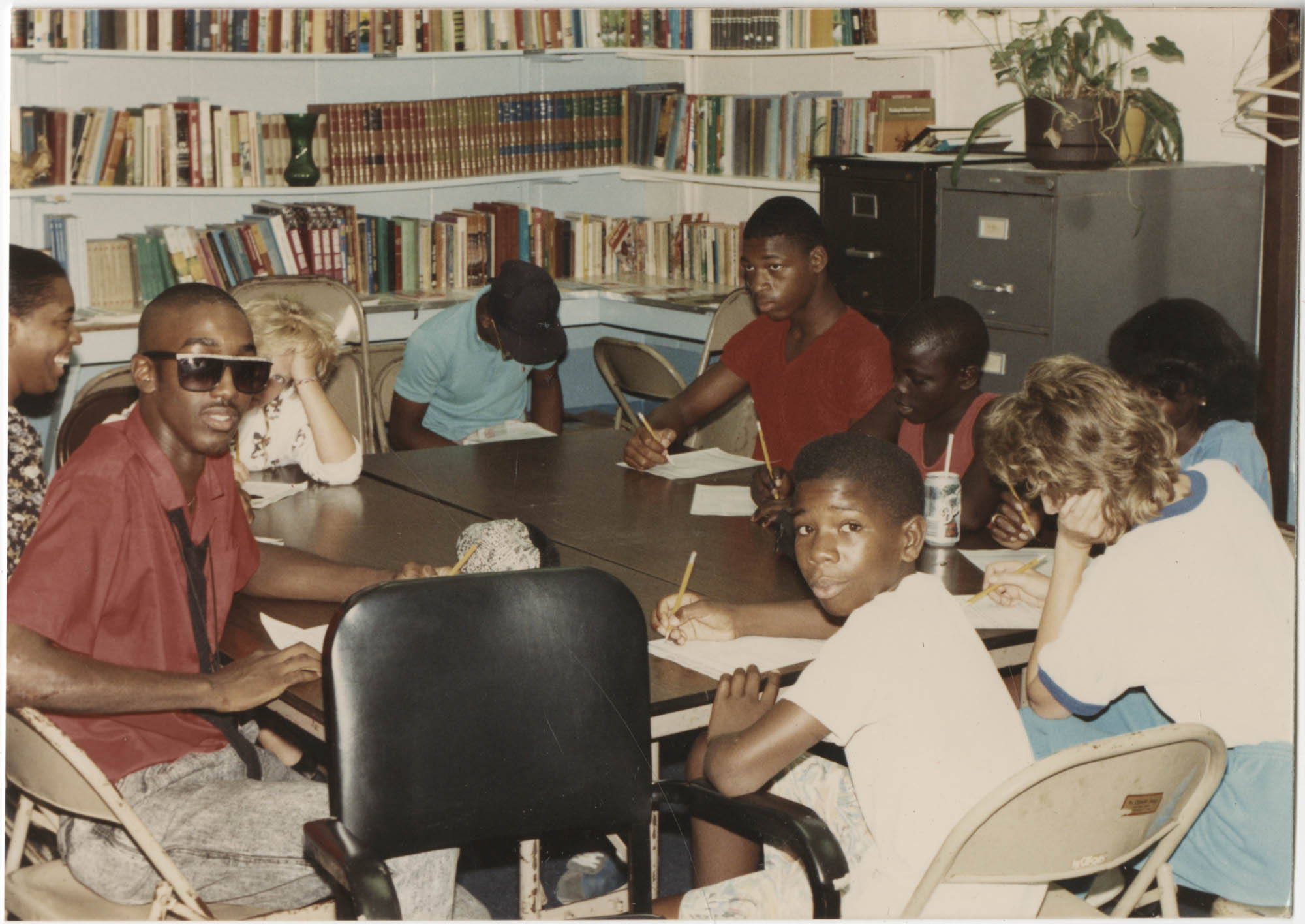 Photograph of Adolescents Writing
