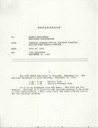 Memorandum, Jondelle Johnson, September 22, 1990