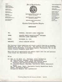 Memorandum, Ernie Passailaigue, November 19, 1991